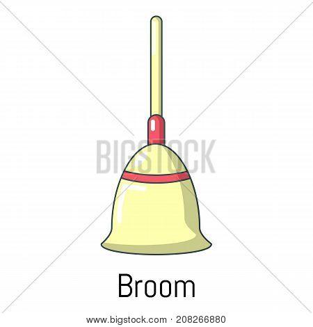 Broom icon. Cartoon illustration of broom vector icon for web