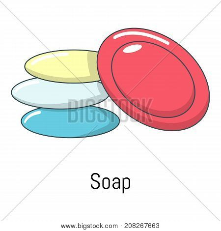Soap icon. Cartoon illustration of soap vector icon for web