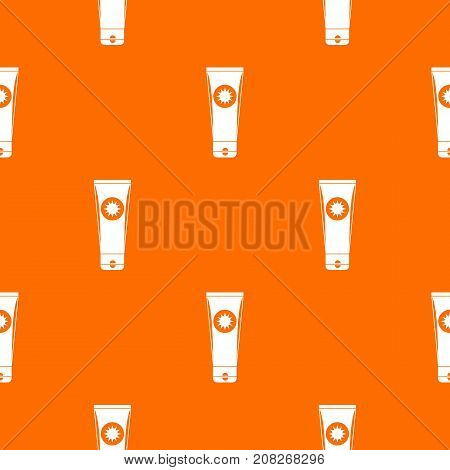 Sunscreen pattern repeat seamless in orange color for any design. Vector geometric illustration