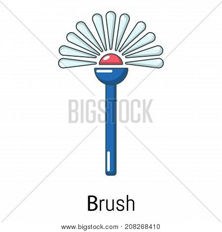 Toilet brush icon. Cartoon illustration of toilet brush vector icon for web