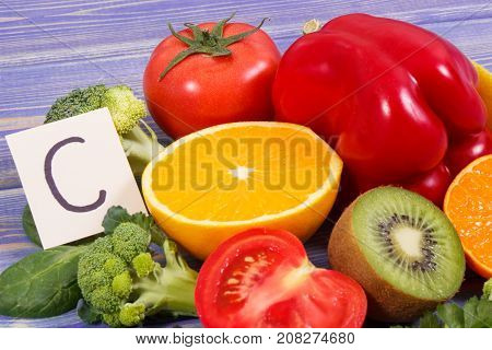 Fruits And Vegetables As Sources Vitamin C, Dietary Fiber And Minerals, Strengthening Immunity And H
