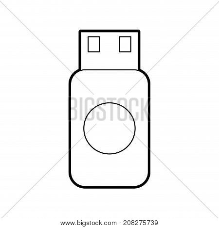 usb flash drive data storage device concept web vector illustration