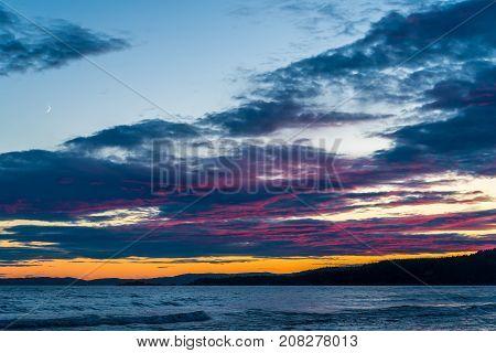 Sunset On Superior Lake