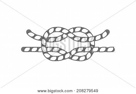 Hammock rope knot icon. Seamless decorative design element, creative handmade isolated vector illustration