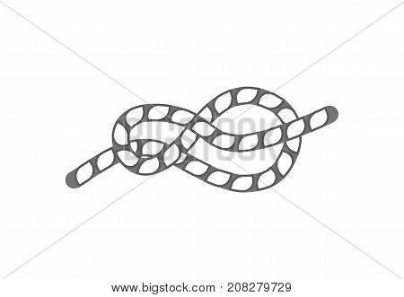 Figure eight rope knot icon. Seamless decorative design element, creative handmade isolated vector illustration