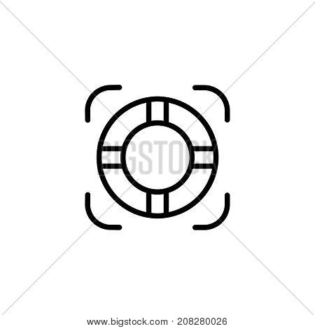 Swimming circle flat icon. Single high quality outline symbol of water for web design or mobile app. Thin line signs of swimming for design logo, visit card, etc. Outline logo of sport