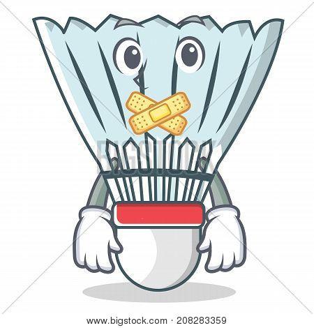 Silent shuttlecock character cartoon vector art illustration