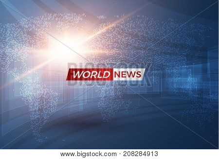 News vector background, breaking news. Can be used for blog background or technological or business news article backdrop. EPS10