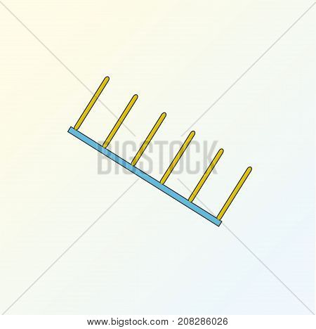 Agility dog obstacles vector. Dog sport equipment illustration. Agility dog isolated on background. Jumping obstacles illustration.
