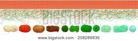 Knitted green leaf pattern. Knit, Knitting, fabric,
