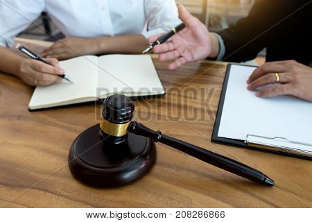 Lawyer  Judge  Or Auction Show  Gavel In The Room