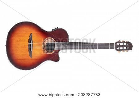 Acoustic guitar, high resolution detailed image
