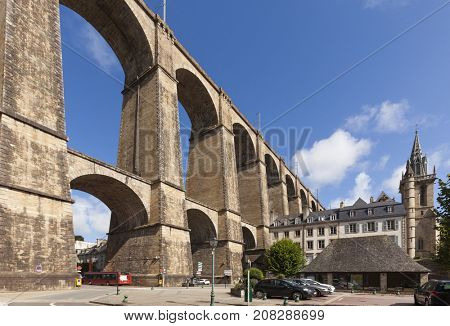 The viaduct at Morlaix, Brittany, France