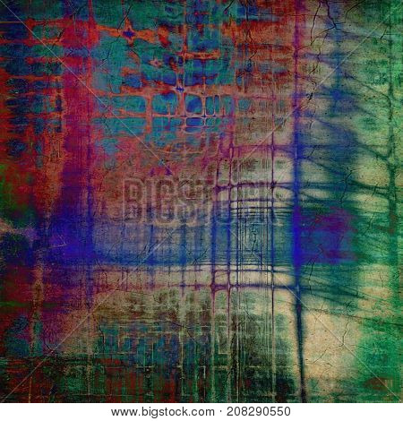 Weathered and distressed grunge background with different color patterns