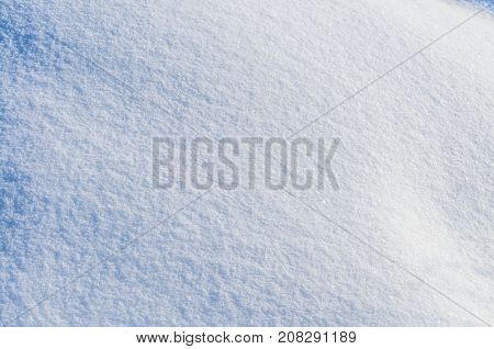 Clear fresh snow as background or texture