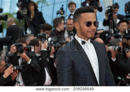 CANNES, FRANCE - MAY 18:  Lewis Hamilton  attends the 'The Unkown Girl (La Fille Inconnue)'  premiere during the 69th annual Cannes Film Festival at the Palais des Festivals on May 18, 2016 in Cannes