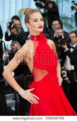 Rosie Huntington-Whiteley   attends the screening of 'The Unkown Girl (La Fille Inconnue)'  at the 69th Festival de Cannes. May 18, 2016  Cannes, France