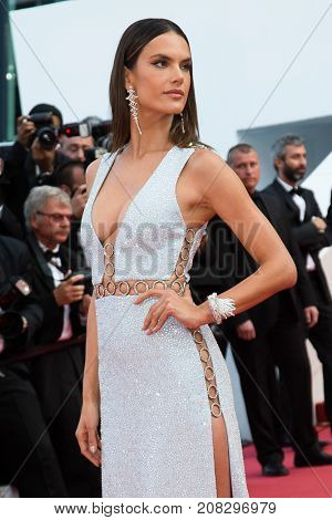 Alessandra Ambrosio   attends the screening of 'The Unkown Girl (La Fille Inconnue)'  at the 69th Festival de Cannes. May 18, 2016  Cannes, France