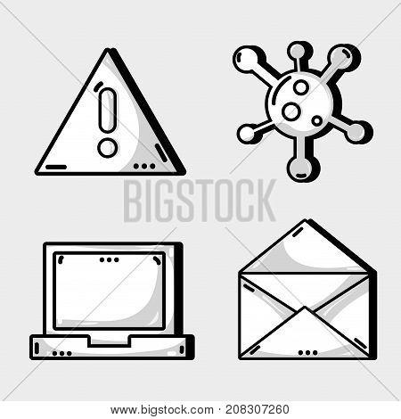 set programmer data information technology vector illustration