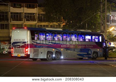 Volvo Bus Of Transport Government Company. 15 Meter Bus  Route Bangkok And Chiangmai.