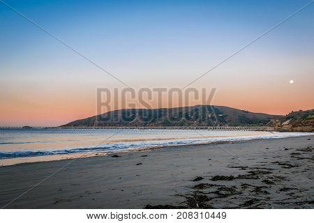 Sunrise at Avila Beach, California at dawn