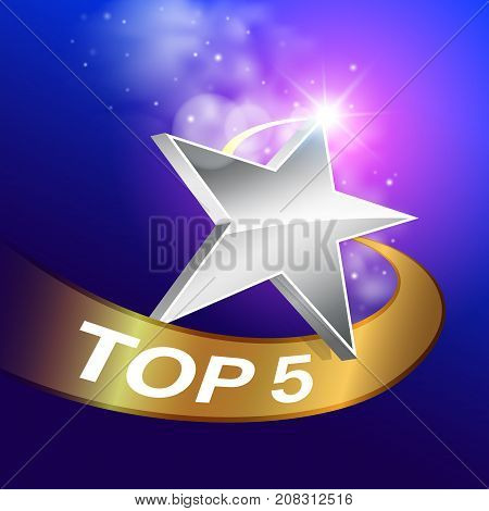 Reviewing performance and ranking is popular 5 ranks...Used as business illustrations.