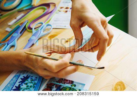 Making Of Scrapbook Greeting Card,