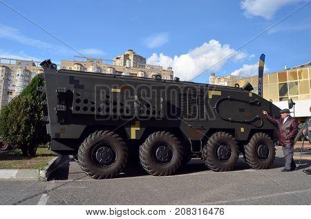 Weapon of the Civil War in Ukraine. Kiev,Ukraine.October 10, 2017