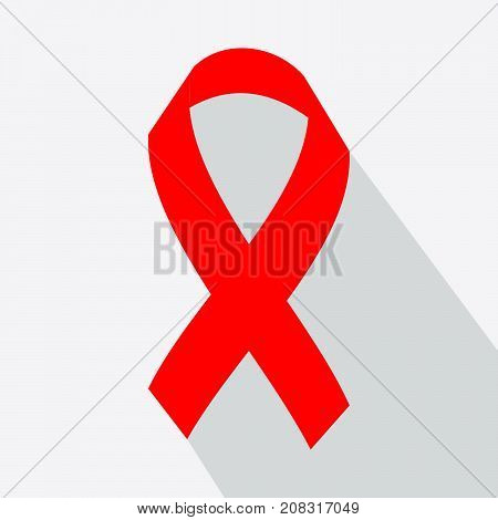 Aids Awareness Red Ribbon. World Aids Day concept