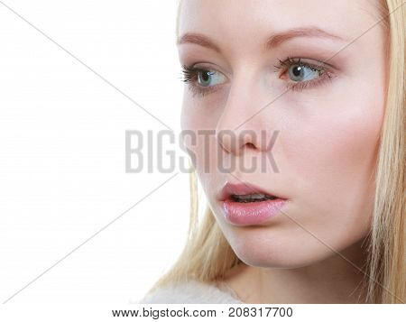 Shocked, Astonished Woman Face Closeup