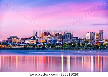 Portland, Maine, USA downtown skyline from Back Cove.