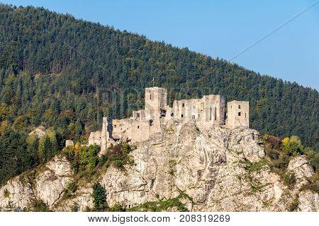 Ruins Of Slovak Medieval Strecno Castle