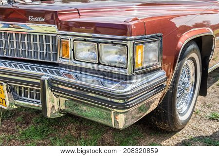 Cadillac Fleetwood Limousine Presented On Annual Oldtimer Car Show, Israel