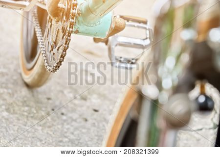 close up image of bmx bike details