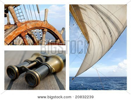 Sails and the sea