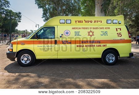 Israeli Ambulance Intensive Car, Called