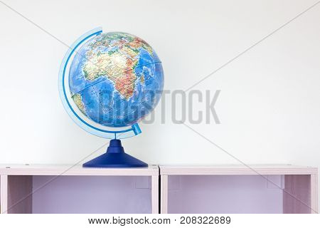 Globe sphere orb model effigy with copy space