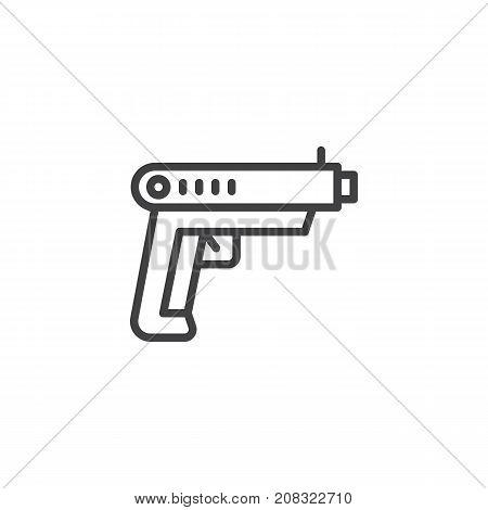 Gun Line Icon Vector Photo Free Trial Bigstock