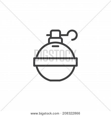 hand grenade line icon outline vector photo bigstock rh bigstockphoto com Grenade Silhouette Clip Art with Transparent Background