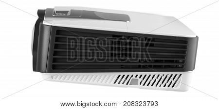 White multimedia projector isolated on white .