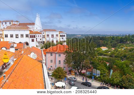 The Palace Of Sintra. Town Palace, Portugal