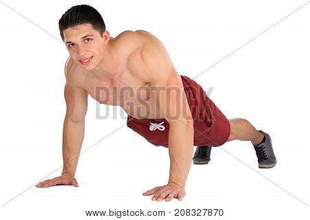 Push Ups Up Push-up Push-ups Exercise Bodybuilder Bodybuilding Man Isolated
