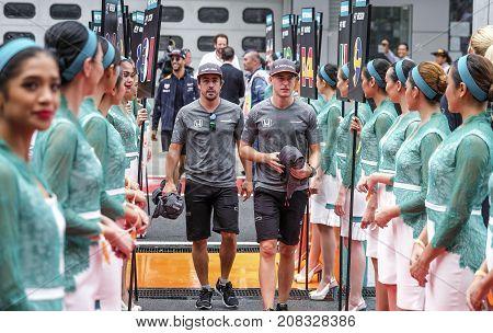 Fernando Alonso & Stoffel Vandoorne Of Mclaren Honda