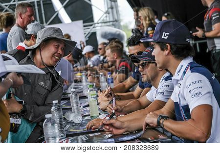 Felipe Massa & Lance Stroll Of Williams Martini Racing