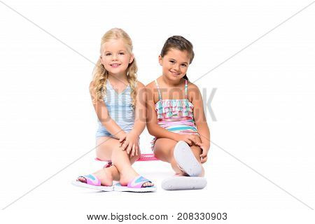 Smiling Kids With Skateboard
