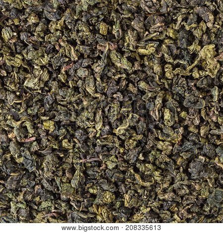 Close up of green oolong tea background