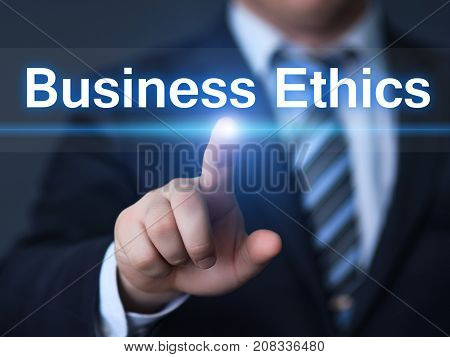 Business Ethics Integrity Responsibility Corporate Strategy Concept.