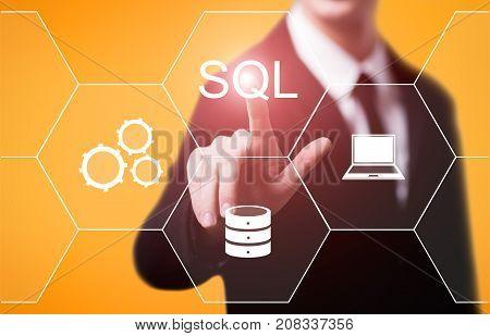 SQL Programming Language Web Development Coding Concept.