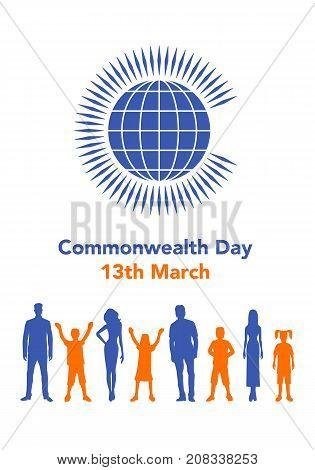 Commonwealth Day Illustration