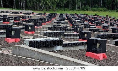 Khatyn, Belarus. July 25 2017. Memorial to the victims of World war II.